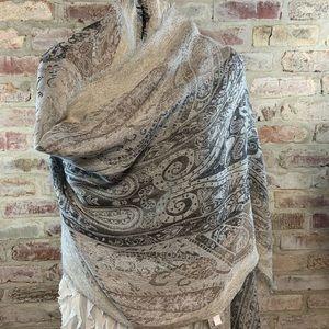 Silver scarf wrap